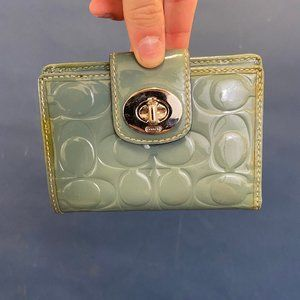 Coach Patent Leather Card Wallet